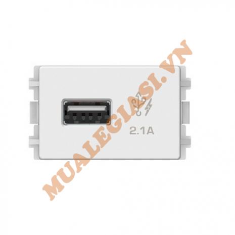 Ổ sạc USB 2.1A đơn, size S Schneider ZENCELO A 8431USB_WE