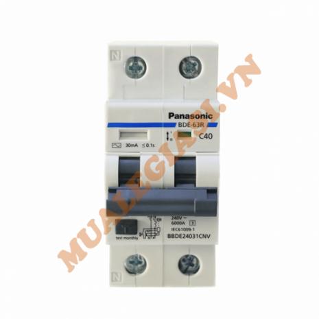 RCBO bảo vệ dòng rò & quá tải Panasonic 40A BBDE24031CNV