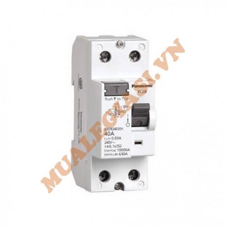 RCCB Cầu dao chống rò 30mA-2P Panasonic BBDR24030HV 40A