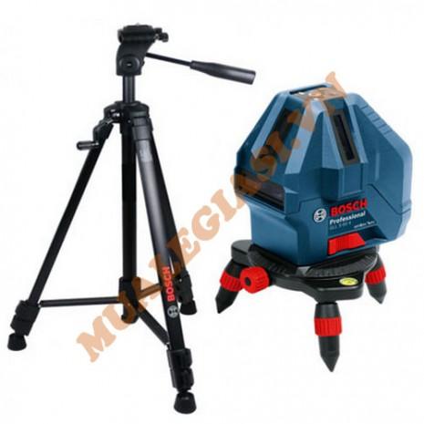 Bộ set máy cân mực tia đỏ laser Bosch GLL 5-50X + BT 150 5/8