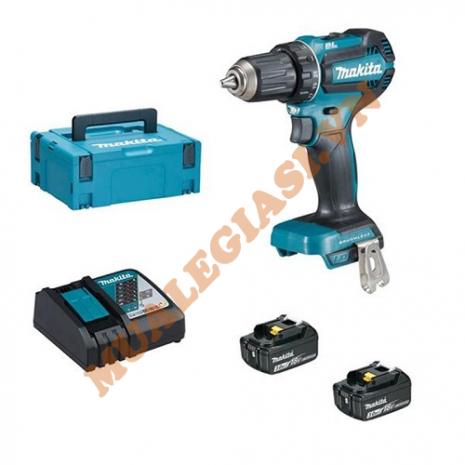 Máy khoan và vặn vít dùng pin 18V Makita DDF485SFE