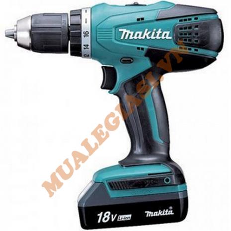 Máy khoan vặn vít dùng pin 18V Makita DF457DWE