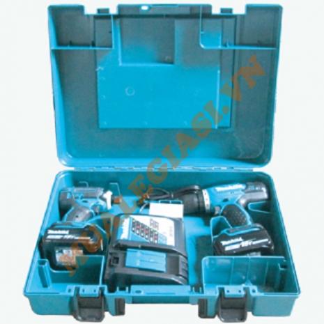 Bộ sản phẩm máy khoan vặn vít dùng pin 18V Makita DLX2240