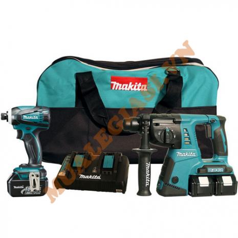 Bộ sản phẩm máy khoan, máy vặn vít Makita DLX2242PM1