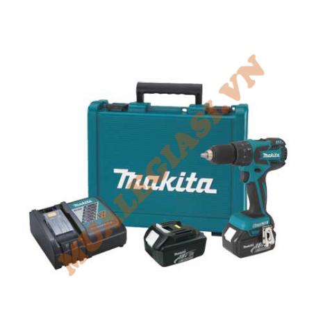Máy khoan pin Makita 18V DHP459RFE (18V, 3.0Ah)