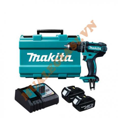 Máy khoan búa vặn vít chạy pin Makita DHP482RAE 18V