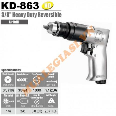 "Máy khoan hơi 10mm 3/8"" Kuani KD-863"