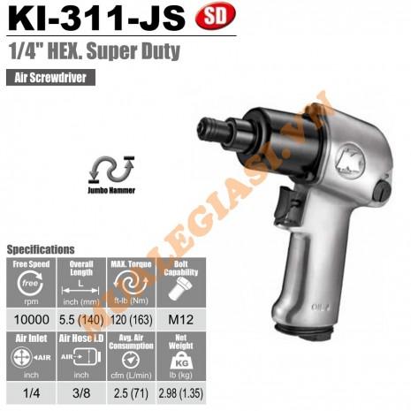 """Máy bắn vít hơi 1/4"""" Kuani KI-311-J-S"""