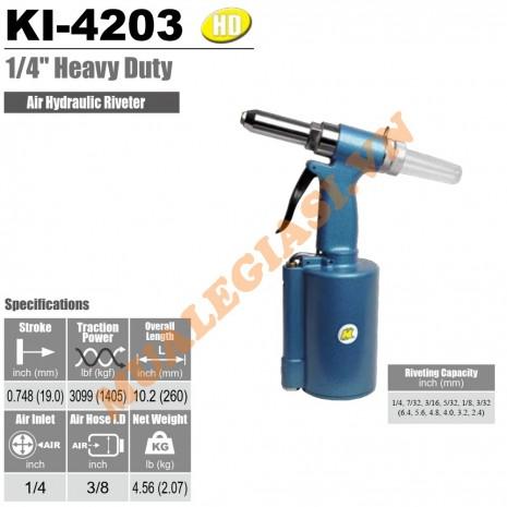 Máy rút rive bằng hơi 6.4mm Kuani KI-4203