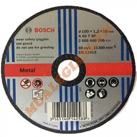 Đá cắt sắt 100x1.2x16mm Bosch 2 608 600 266