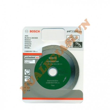 Đĩa cắt gạch kim cương 105x16/20x1.6mm Bosch 2 608 603 729