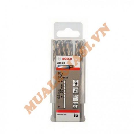 Mũi khoan inox HSS-CO 6mm 10pcs Bosch 2 608 585 889