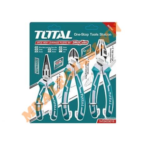 Bộ kìm điện, kìm cắt và kìm nhọn cao cấp 3 chi tiết Total THT2K0301S